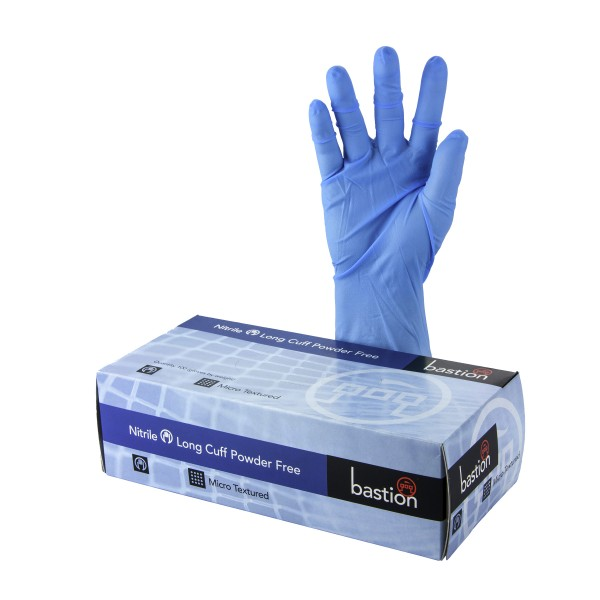 Gloves: Nitrile Long Cuff - Large